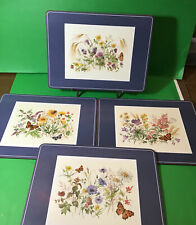 Pimpernel? Placemats Blue With Wildflowers,  Butterflies And Bees