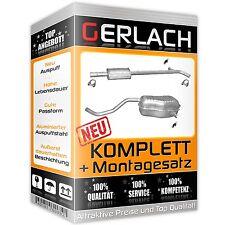 Montagesatz RENAULT CLIO III 1.2TCe 2007-2011 Komplette Auspuffanlage ab CAT