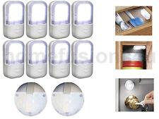 Set of 10 Quick Bright LED Lights Kit Stick up on Wall Kitchen Cupboard Wardrobe