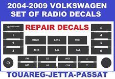 2004,2005,2006,2007,2008,2009 VOLKSWAGEN TOUAREG RADIO BUTTONS WORN DECAL SET