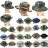 Women Boonie Wide Brim Bucket Hat Men Camo Army Military Fishing Sun Cap Outdoor