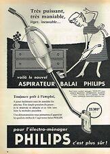 E- Publicité Advertising 1958 Aspirateur Balai Philips