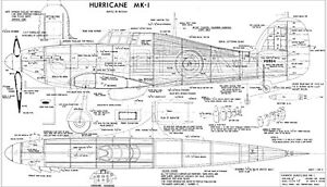COMPLETE-A-PAC NO14 HAWKER HURRICANE MK1 plans