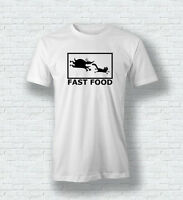 FAST FOOD Funny Cat Dog T-Shirt Tee Top For Men Woman Children
