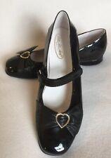 Shoe Be Doo Italy Girls Black Patent Mary Jane Shoes Heart sz 37