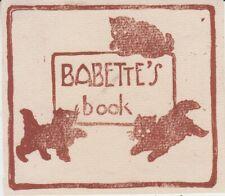Ex-libris (Bookplate) BABETTE'S BOOK par George-David PERROTTET - Australie 1929
