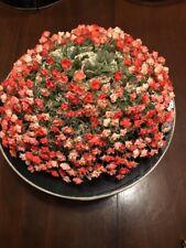 JACK McCONNELL NEW YORK DESIGNER VINTAGE FLOWER  HAT ORANGE RED W/ BOX