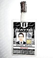Batman Bruce Wayne Enterprises ID Badge Gotham Navidad Disfraz Cosplay Accesorios