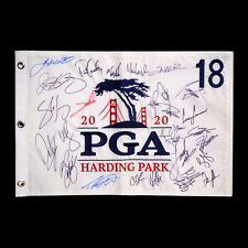 2020 PGA Championship Field Signed Golf Flag Harding Park Rory McIlroy Autograph