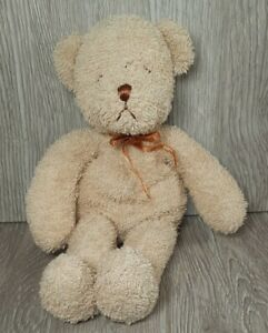 Vintage BUDDY BEARS Brown Tan Bear plush Terry Cloth Beanie RARE