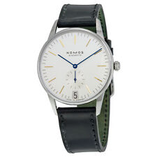 Nomos Orion 38 Datum White Dial Stainless Steel Mens Watch 380