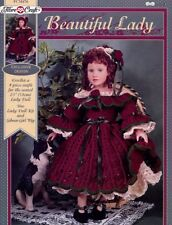 "Beautiful Lady 23"" Doll Dress Fibre Craft Crochet Pattern/Instructions Leaflet"