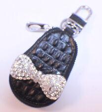 Rhinestone Bling Key Chain Fob Purse Phone Charm Coin Purse Baby Shoe