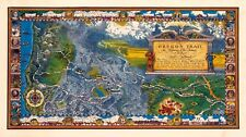 1960 pictorial map Oregon Trail Highway of the Pioneers Pacific Northwest 12006