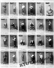 Wall Art / Photograph 24 Uncut Cigarette Baseball Cards from 1887   11x14