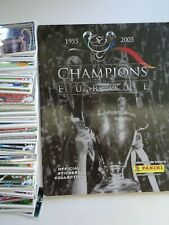 Panini UEFA Champions League 2005  275 different Stickers + Album 71% complete