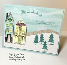 NEW Stampin Up Holiday Home stamps Christmas Halloween House Holidays RETIRED