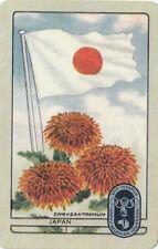 Olympic Games 1956 Melbourne swap card Japan Chrysanthemum & flag not Coles