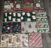 *BRAND NEW* Huge Lot 266 Sheets Vintage Christmas Gift Wrap Wrapping Paper Cleo