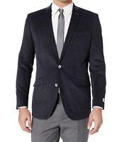 Unlisted Kenneth Cole Mens Blazer Blue Size 42 Corduroy Sportscoat $295 #221