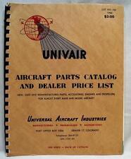 UNIVAIR AIRCRAFT PARTS CATALOG & DEALERS PRICE LIST SALES MANUAL 1963 VINTAGE