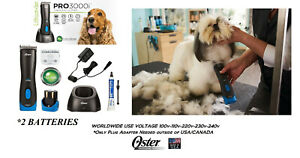 Oster PRO 3000i Cordless CLIPPER SET,10 BLADE&2 BATTERY*Lithium Ion Rechargeable