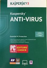 Kaspersky Anti-Virus 2015 3 User 1 Year-Free Upgrade to Current Version 2020