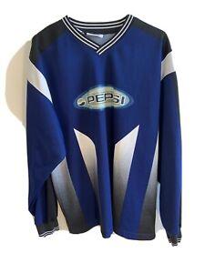Unisex L/XL Hockey Jersey Pepsi-Cola GeneratioNEXT Blue Pullover Sweater Crewnec