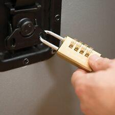 Cadenas à Code 4 Chiffres Résistant En Laiton Massif Sans Clé Bagages Résistant