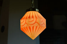 BEAUTIFUL CZECH ART DECO 1930's  Pendant LIGHT