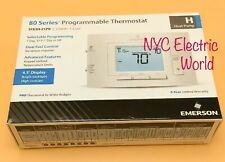 New Emerson Programmable Thermostat 1F83H-21PR  2Heat/Cool Heat Pump