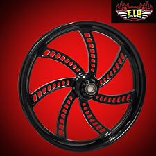 "Harley Davidson 21"" inch Blackout Front Wheel ""Slapshot"" by FTD Customs"