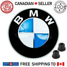 BMW 82mm Hood Trunk Emblem Front Bonnet Rear Badge Roundel With Grommets