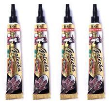4x Golecha Henna Pâte Tube Noir 100 g dessin DECO BRICOLAGE peinture Inde WOW