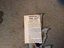 M12b ephemera 1966 oct 16th football report shrewsbury 1 reading 0 peter dalby