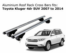 Aluminium Roof Rack Cross Bars fits Toyota Kluger with roof rails 2007-2014