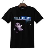 BILLIE HOLIDAY Gildan Black T shirt S - 2XL