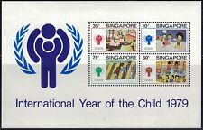Singapore SC332a Souv.Sht.Children'sDrawings-Int'l Year Of The Child MNH 1979