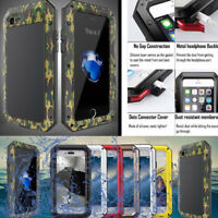 Aluminum Metal Shockproof Waterproof Gorilla Glass Case Cover for iPhone/Samsung