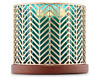 NEW 1 BATH & BODY WORKS GOLD CHEVRON LARGE 3-WICK 14.5 OZ CANDLE HOLDER SLEEVE
