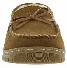 Eddie Bauer Men's Sharling Lined Woodland Suede Slippers Size M (8-9) Tan