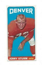 1965 Topps Football Jerry Sturm Single Print #64 near mint +(see scan)