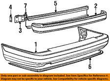 VOLVO OEM 95-97 960 Rear Bumper-Absorber Bracket 9126820