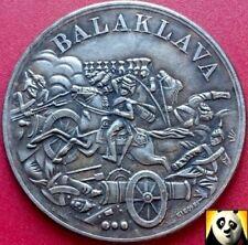 1854 Crimean War Battle of Balaklava Siege of Sevastopol Coin Medal Medallion