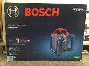 Bosch GRL800-20HVK Self Leveling Rotary Laser Kit NEW