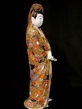 """13"""" JAPANESE TAISHO PERIOD KUTANI KANNON / KWAN YIN / BUDDHA FIGURINE"""