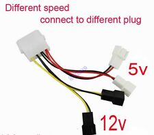 5pcs PC Fan 4Pin Convert to 2pin/3pin (2x12V) (2x5V) Y Splitter Cable Connector
