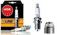 4x Bujia BKR6EK NGK V-Line BMW E30 E36 316 318 320 323 325 Bujias 2 electrodos