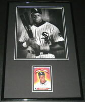 Frank Thomas Signed Framed 11x17 Photo Display White Sox