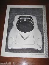 (173)* =ALFA ROMEO COUPE' PININFARINA P33 1969=RITAGLIO=CLIPPING=POSTER=FOTO=